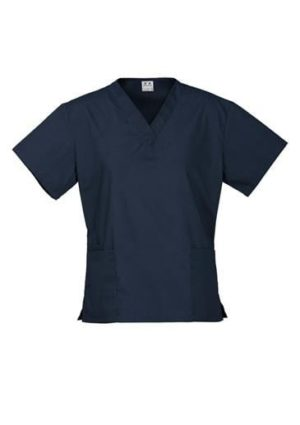 Ladies Classic Scrubs Top Navy