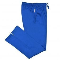 Ladies Bootcut Scrub Pants Royal